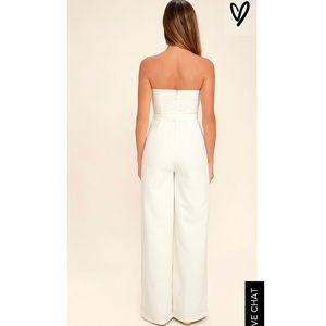 66cf3db30d3 Lulu s Pants - Lulus Pop Life White Strapless Jumpsuit